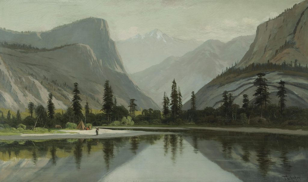 Painting, Morning on Mirror Lake, Yosemite by Frederick Ferdinand Schafer